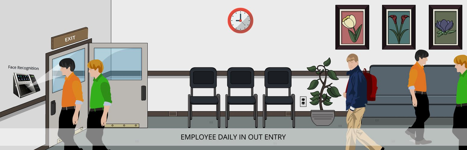 Employee daily in out